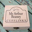 Personalised Wooden Cufflinks Box