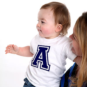 Personalised Baby's Initial T Shirt - clothing