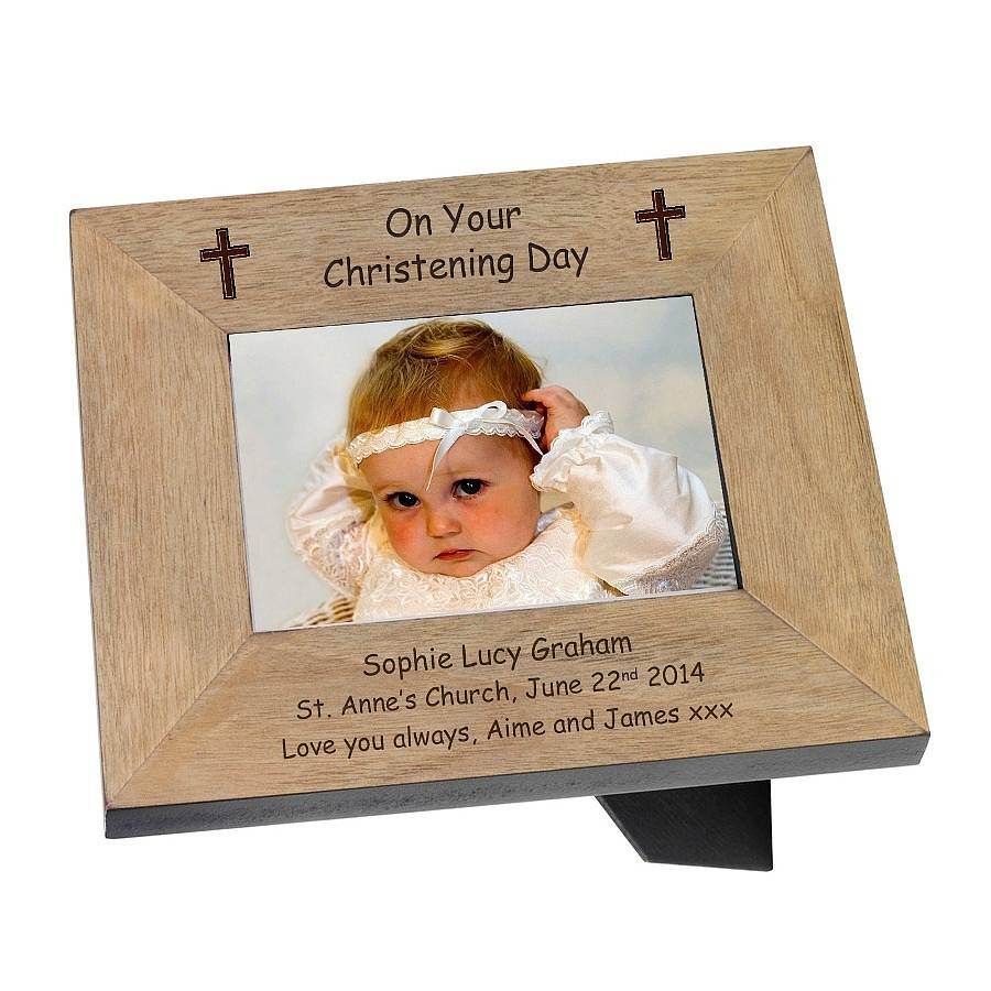 personalised christening or baptism frames