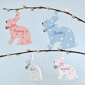 Personalised Easter Bunny Family