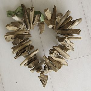 Driftwood Hanging Heart - hanging decorations