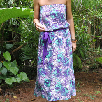 'African Queen' Strapless Dress
