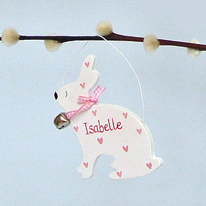 Personalised Little White Bunnies - children's room