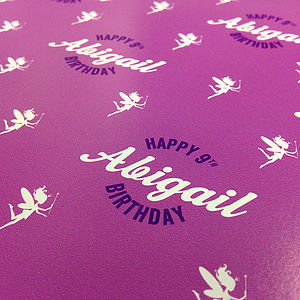 Personalised Birthday Wrap Fairy - wrapping paper