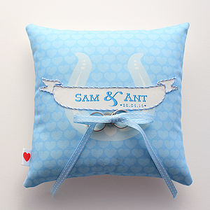 Personalised Ring Cushion - wedding ring pillows