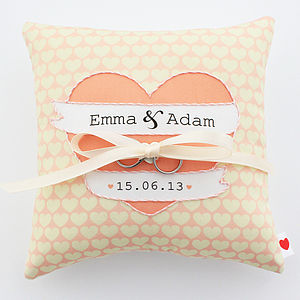 Personalised Wedding Ring Cushion - wedding ring pillows