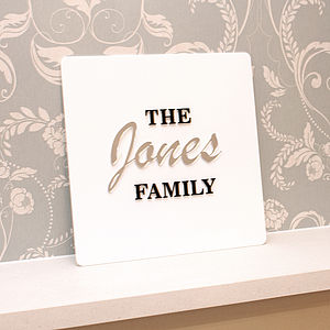 Personalised Family Name Wall Art