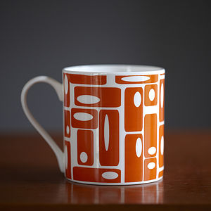 Orange Rectangles Mug