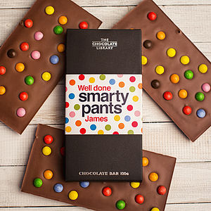 Personalised 'Smarty Pants' Chocolate Bar - chocolates