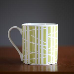 Green Tracks Mug - crockery & chinaware