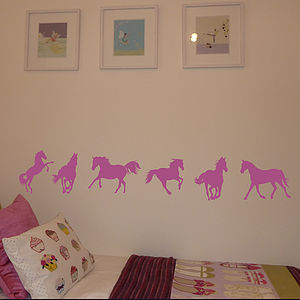 Set Of Six Horse Wall Stickers - baby's room