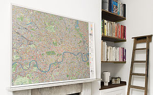 London Cycle Wall Map - gifts for travel-lovers