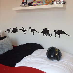 Pack Of Six Dinosaurs Wall Stickers - bedroom