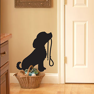 Puppy With Lead Wall Sticker - decorative accessories