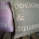 Cockle and Mussels seaside cushion