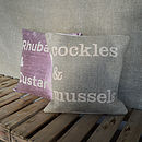 'Cockles And Mussels' Linen Cushion
