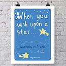 'Wish Upon A Star' A4 Or A3 Print