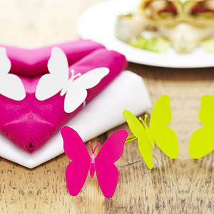 Set Of Four Butterfly Napkin Rings