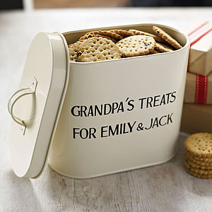 Personalised Enamel Storage Tin - kitchen