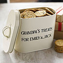 Personalised Enamel Storage Tin