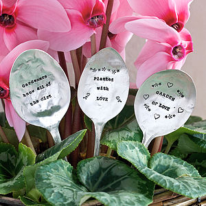 Personalised Vintage Spoon Plant Marker - kitchen