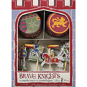 Knight And Dragon Cupcake Kit - cupcake cases