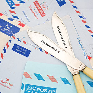 Personalised Vintage Fish Knife Letter Openers - office & study