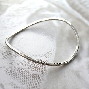Personalised Infinity Bangle