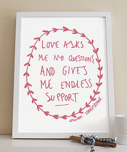 'Endless Support' Love Print
