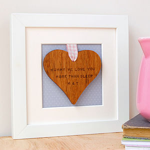 Personalised Framed Wooden Heart - view all mother's day gifts