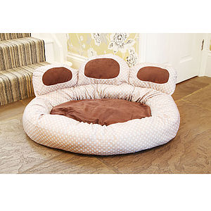 Antibacterial Paw Pet Bed - beds & sleeping