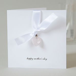 Personalised Rose Quartz Heart Mother's Day Card