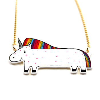 Rainbow Unicorn Necklace
