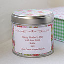 Personalised Scented 'Mother's Day' Candle