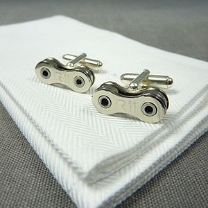 Campagnolo Record Bicycle Chain Cufflinks - gifts for cyclists