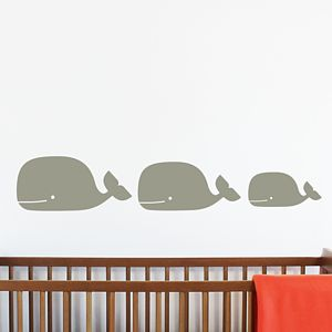 Whale Family Wall Stickers - wall stickers