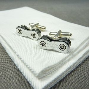 Shimano Ultegra Bicycle Chain Cufflinks - men's jewellery