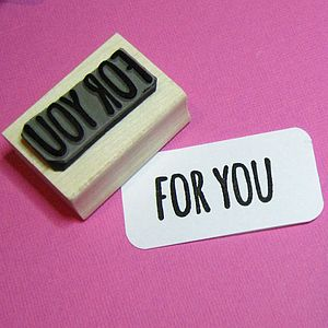 For You Rubber Stamp