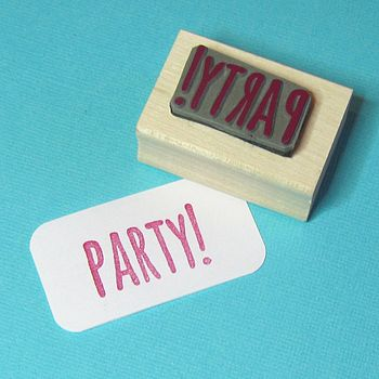 Party! Rubber Stamp