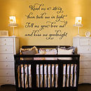 'Read Me A Story' Quote Wall Sticker