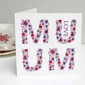 Love U Mum Greeting Card