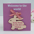 Personalised 'Welcome To The World' Keepsake Card