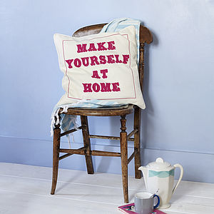 MW Studio 'Make Y'self At Home' Cushion Cover - new home gifts