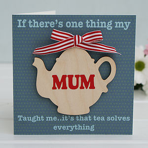 Personalised 'Tea Solves Everything' Card