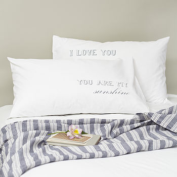 Pair Of 'You Are My Sunshine' Pillowcases