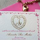Gold Filigree Letterpress Birth Announcement