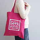 Personalised 'We Love You More' Tote Bag