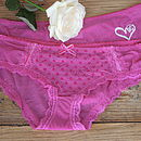Personalised Embroidered Knickers