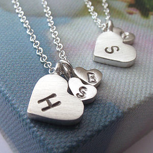 Mother And Child Initial Necklace - mother's day gifts