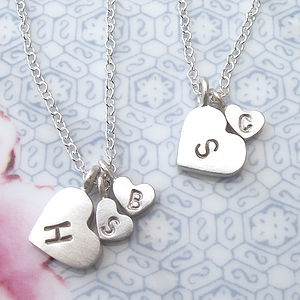 Mother And Child Initial Necklace - necklaces & pendants